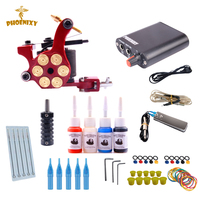 Tattoo Starter Kit Permanent Makeup Gun Kit Professional Body Piercing Kit Tattoo Machine Kit