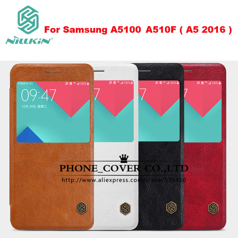 Original Nillkin Genuine Leather Case cover For Samsung A510F A5100 A5 2016 phone bags skin cases