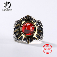 S925 Silver Sun Retro Personality Domineering Men Opening ring Ring Thai Silver Wholesale