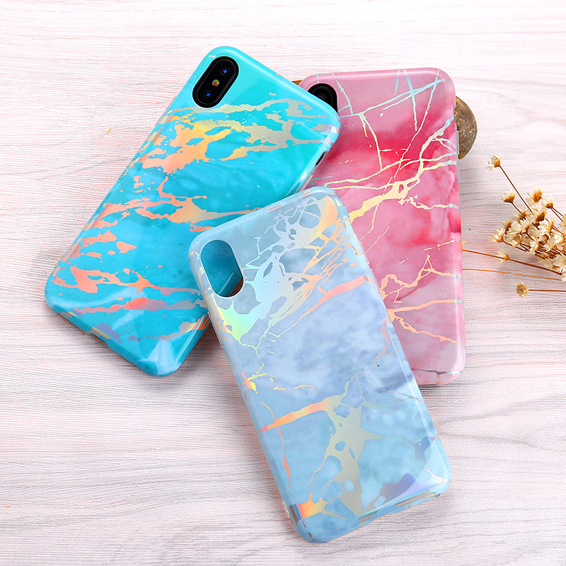 Shiny Rose Gold Marble Design Bumper TPU Soft Case Rubber Silicone Skin Cover for iPhone X 7 6 6s 8 plus for s8 plus note 8