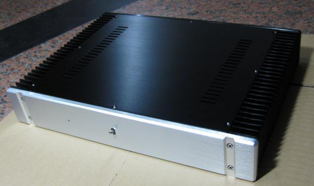 Promotional aluminum amplifier chassis, DIY amplifier case  with external radiator
