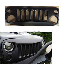 Matte Black Front Grille Grid Cover Guard Inserts  For Jeep Wrangler 07 08 09 10 11 12 13 14 2015 [QPA204]