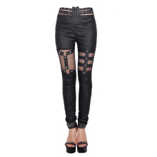 Devil Fashion Women's Winter Trousers Skinny High Waist Leather Boot Cut Large Size Long Pants Italy Woman Leggings Spandex