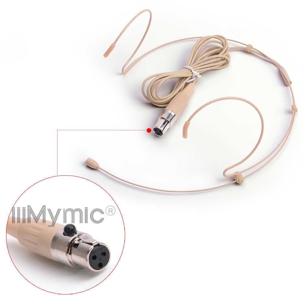 IiiMymic H-21S2-3 3pin mini XLR 3pin TA3F موصل سماعة الرأس ميكروفون سماعة الرأس ل AKG Samson اللاسلكية هيئة حزمة الارسال