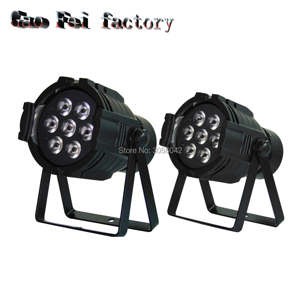 2pcs/lot Hot Sell LED 8 Channels 7x12W Led Par Can RGBW 4 in 1 DMX стоимость