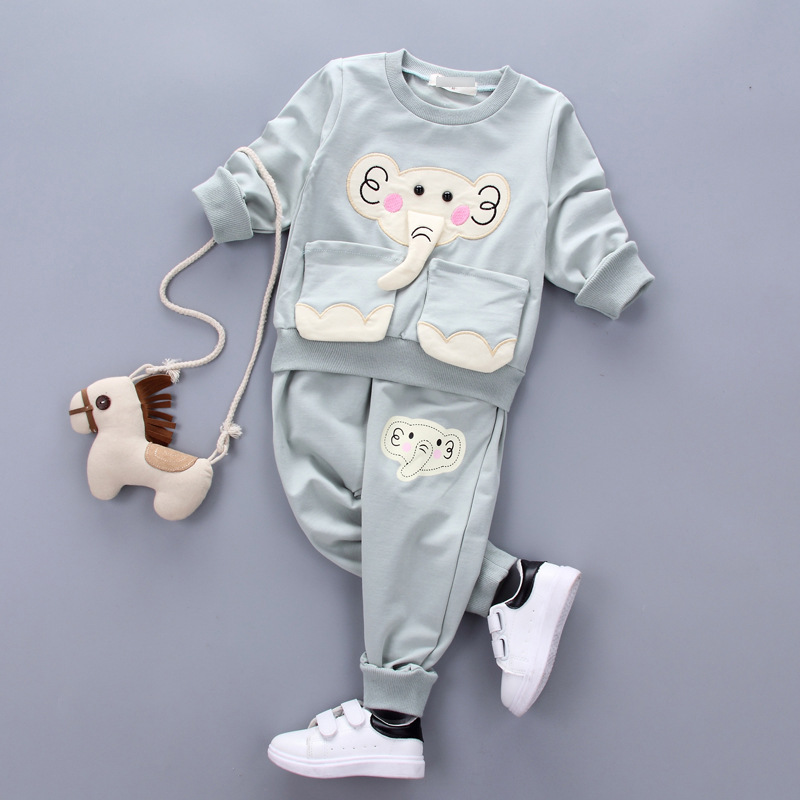 Autumn Toddler Girls Clothing Cute Elephant Cotton Shirt Baby Boys Clothes Clothes Set Sport Suits children christmas costumes malayu baby kids clothing sets baby boys girls cartoon elephant cotton set autumn children clothes child t shirt pants suit