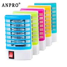 Anpro мини-москитные лампы, СВЕТОДИОДНЫЙ Электрический Отпугиватель насекомых от комаров, бытовая розетка Zapper, ночная лампа