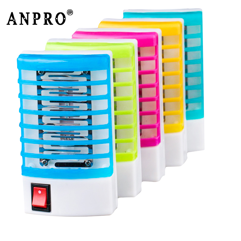 Anpro Mini Mosquito Killer Lamps LED Socket Electric Insect Mosquito Repeller Household Socket Zapper Night Lamp
