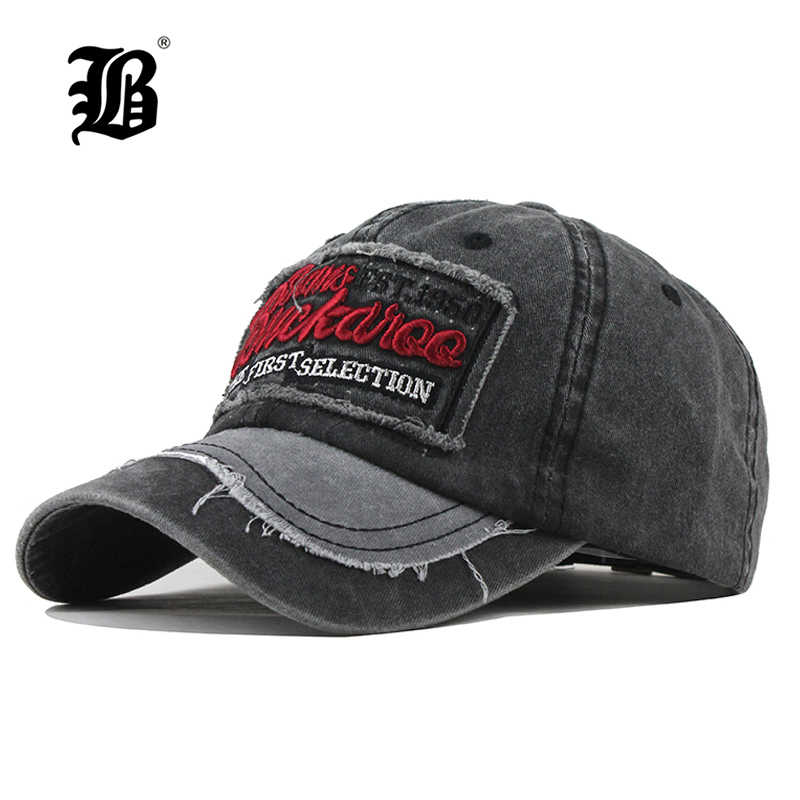 045e2dba54bc57 [FLB] Men Baseball Caps Snapback Hats For Women Washed Vintage Embroidery  Bone Male Cap