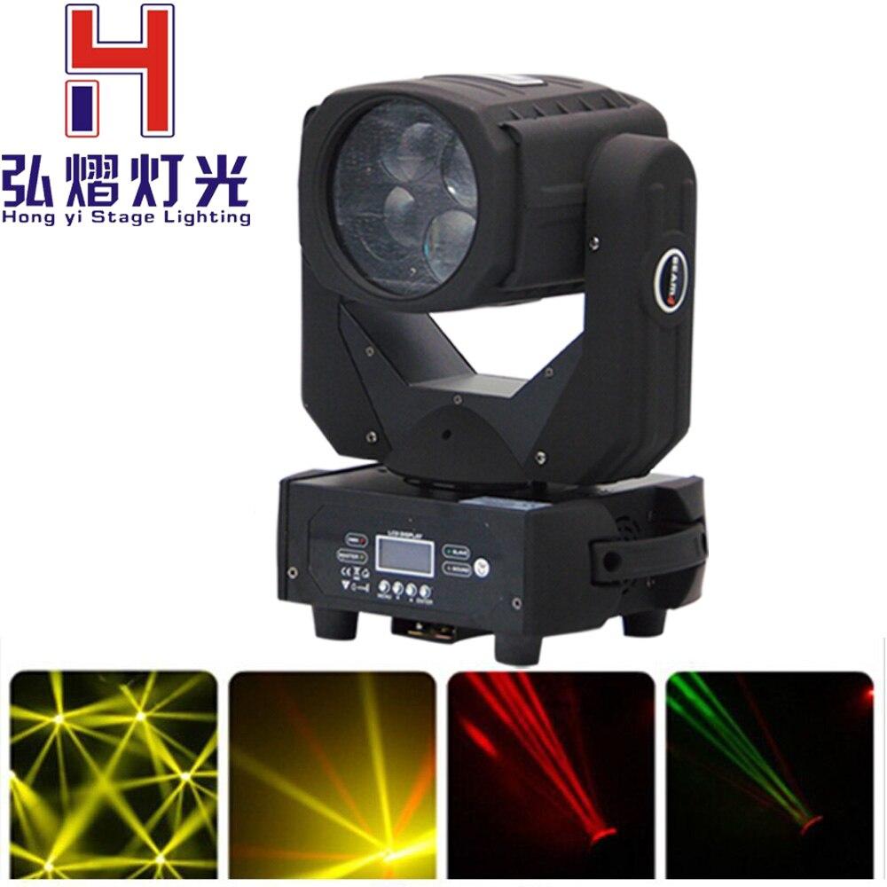 2016 Nuovo Caldo Hong Yi Stage Light 4x25 w bianco Fase di Illuminazione A LED Super Spot del Fascio Luce in movimento head light