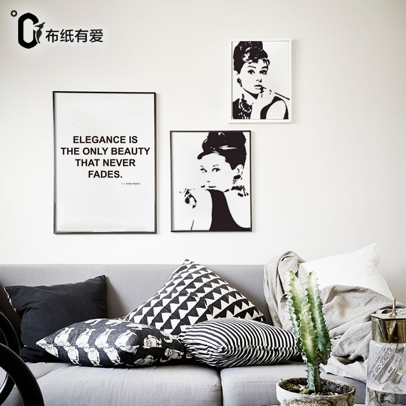 Modern Bedroom Home Decor Audrey Hepburn Woman Wall Art Posters and ...