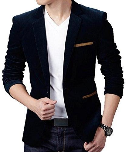 Abetteric Men s Stylish Long Sleeve Peaked Lapel Suit Blazer