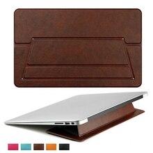 Portátil Tablet Soporte Universal de LA PU Portátil De Refrigeración Portátil Almohadilla de Base Pad Sostenedor Del Soporte para el Aire de MacBook Pro para ASUS para Lenovo