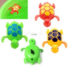 New Kids Baby Child Wind Up Swimming Animal Floating Turtle Pool Bath Time Toy(China)