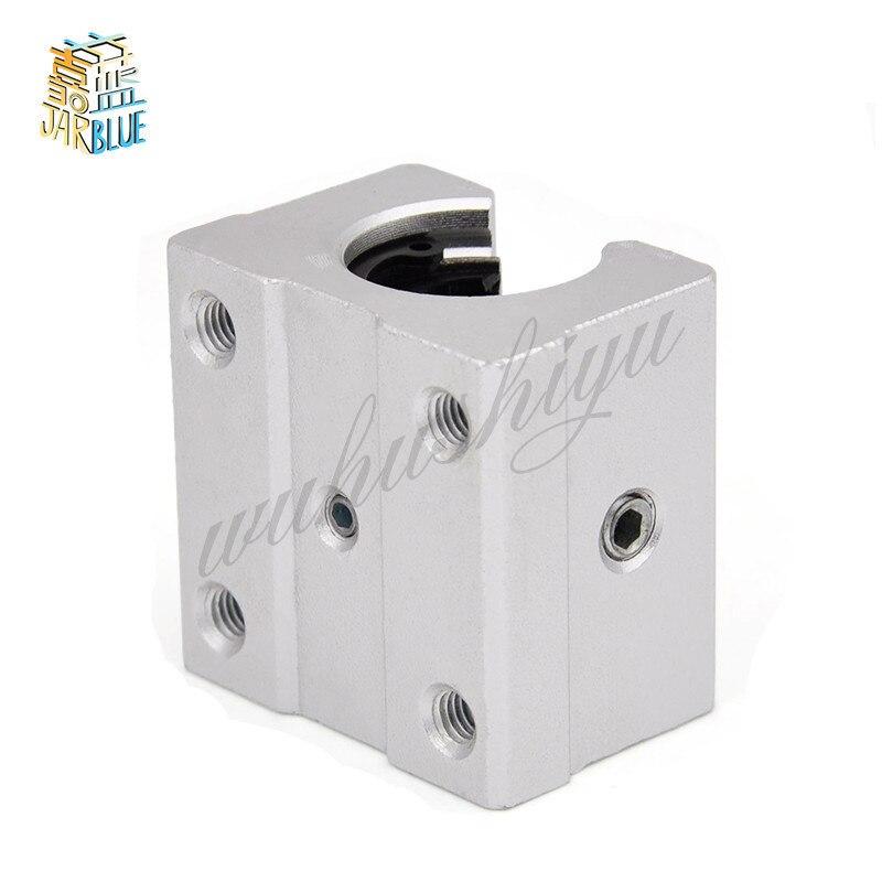 4 x SBR12UU 12mm Aluminum Linear Motion Router Bearing block, silver цены онлайн