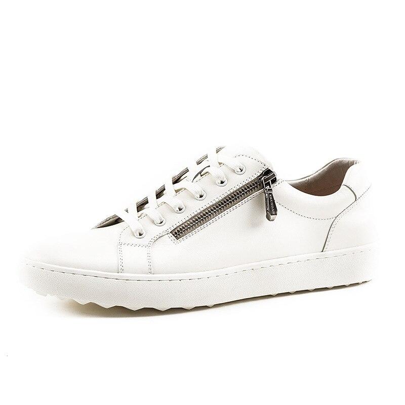 Esporte Calçados branco Chaussure Venda Branco Coffee Sapatos Marca 2018 Sapatilhas Quente Luxo brown Mycolen De Homme Italiana Das Casuais Confortáveis Lace Da Up Homens SgRqUz