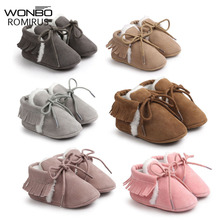 New Brand Pu suede leather Toddler Baby moccasins winter kee