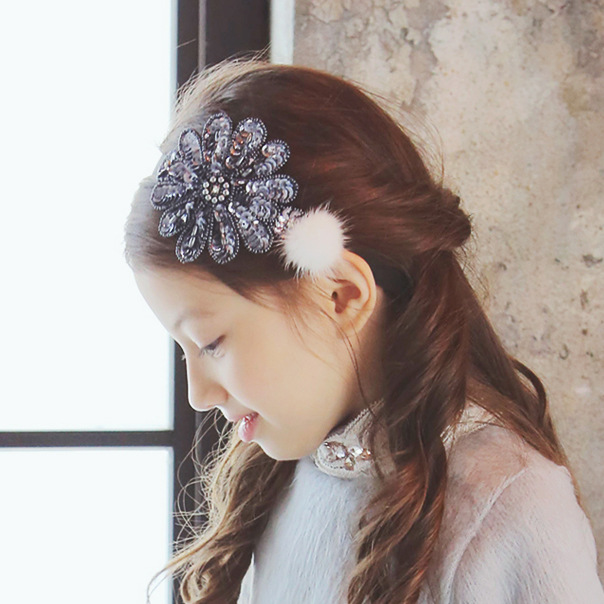 Korea Winter Luxurious Hair Accessories Retro Palace Shiny Flower Crown Headband Hair Band Hair Bow Princess 4