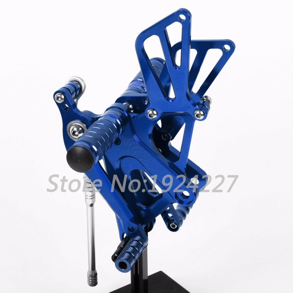 Motorcycle Footrest Adjustable Foot Pegs Rear Set For Honda CBR250RR 2010-2013 Hot Motorcycle Foot Pegs Blue
