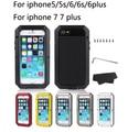 Metal case para iphone 7 7 plus 5 5S waterproo 6 6 s 6 plus case armor case para iphone 5 cubierta del teléfono del bolso del teléfono case