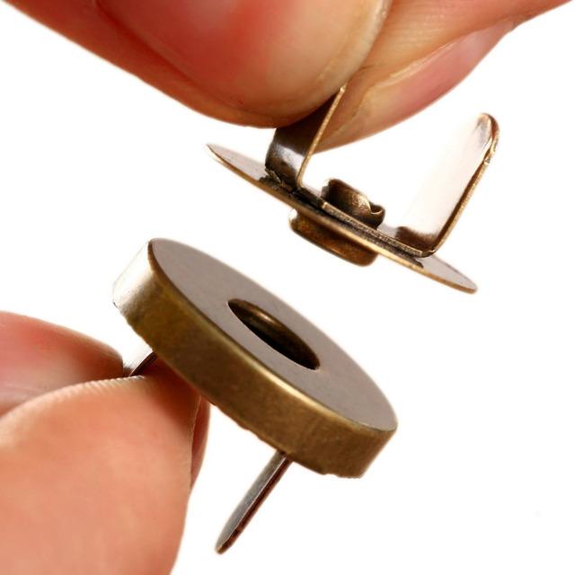Venda quente 10 Conjuntos Saco Bolsa Snaps Fixadores Fechos de Metal Magnético de Costura Botões Artesanato Bolsa de Couro Brasão Botões 14mm/18mm