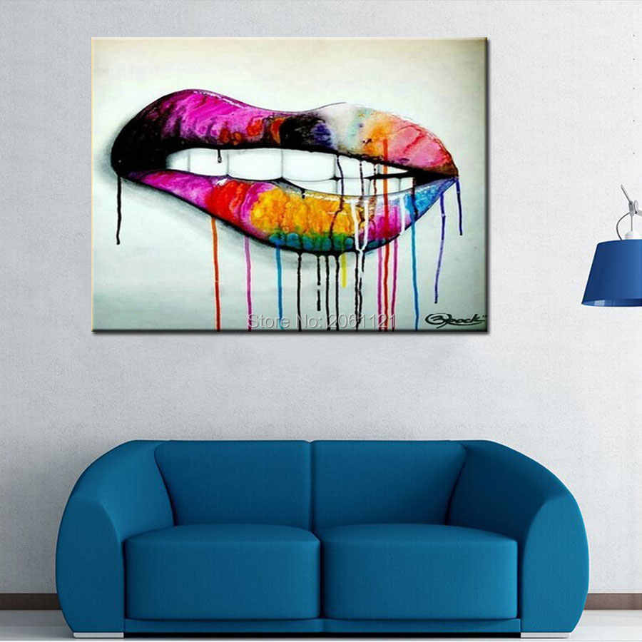 pop art idea wall canvas painting abstract living room ...
