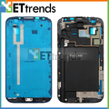 50 pieces/lot DHL Free Shipping Front Housing Frame Bezel for Samsung Note 2 II I605 L900