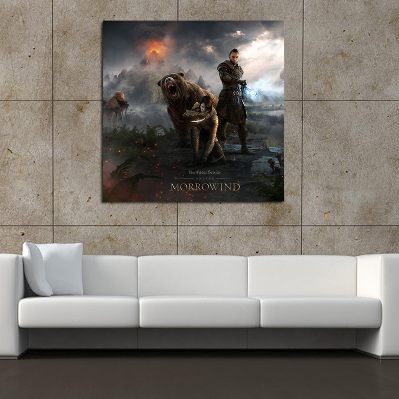 Elder Scrolls Online Morrowind Canvas Painting Print Game Posters Pictures Living Room Home Decor Modern Wall Art Oil Painting