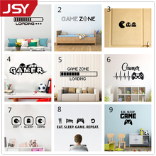 Boys Play Room Vinyl Wall Decal Eat Sleep Game Version Lettering Words Gamer Mural Sticker Bedroom Decoration