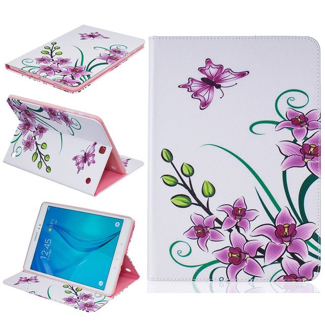 Flower for Samsung Galaxy Tab A 9.7 inch Case Patterned Leather Stand Cover for Samsung Galaxy Tab A 9.7 T550 T555