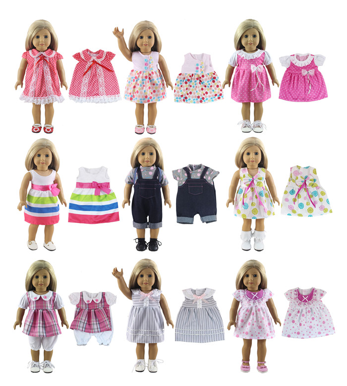Hot Sell Fashion Clothes For 18 Inch American Doll Different Style Princess Dress