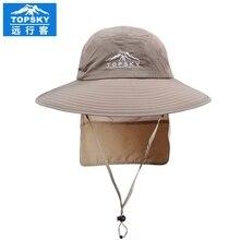 2016 Topsky Outdoor cap Sun hat Men women jungle cap Fishing hat unisex shading cycling speed dry
