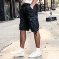 AIRGRACIAS de Carga de Verano Hombres Pantalones cortos Casual Algodón multi-bolsillos Militares Nuevos Cortos Pantalones Cortos de Color Sólido Hombres