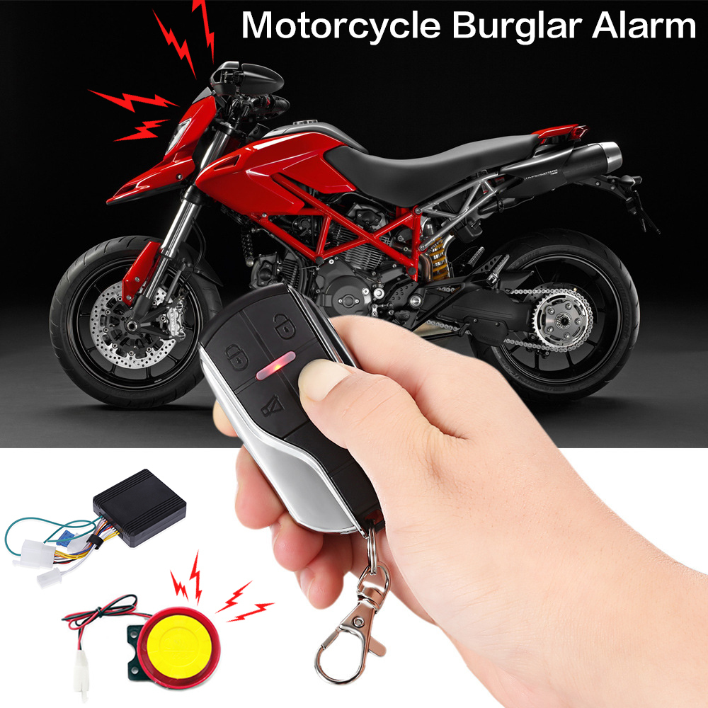 12 V Full Function Motorcycle Anti-Theft Alarm Universal Double Flash Sensitivity Adjustment Motorcycle Alarm Protection Device usb