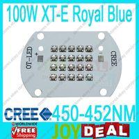 Free Shipg 100W Cree XLamp XT E Royal Blue 450nm 452nm High Power LED Light DC30