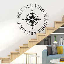 Classic Compass Wall Sticker Pvc Removable Living Room Children Mural Poster Stickers Home Decor vinilo pared