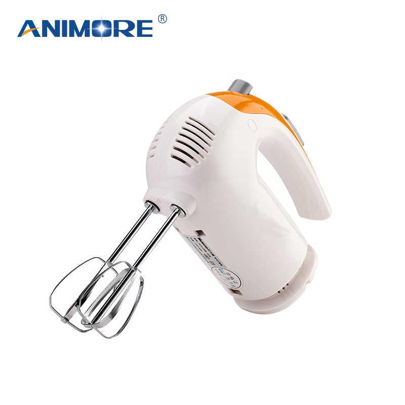 ANIMORE 5 Velocidade Mão Massa Mixer Egg Beater Liquidificador Processador de Alimentos Multifuncional Ultra Energia Elétrica Misturador Da Cozinha FM-04
