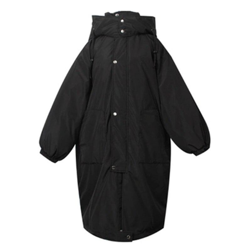 Женские зимние куртки размера плюс, повседневное пальто, женская парка с длинным капюшоном, утолщенная теплая Женская парка с хлопковой под... - 6