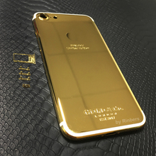 For iPhone 7 4.7″ 24K 24KT 24CT Gold Limited Edition Back Cover Housing Middle Frame Bezel Chassis Replacement + LOGO, FREE DHL