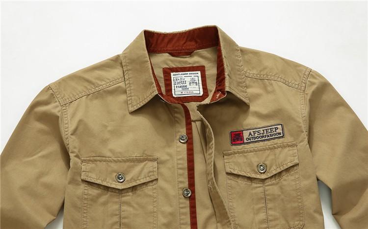 AFS JEEP 2015 Spring Autumn Fashion Men\'s Cotton Dress Plus Size Shirts Camisa Hombre Blouse Vestido Men Clothes Casual 2XL 3XL (6)