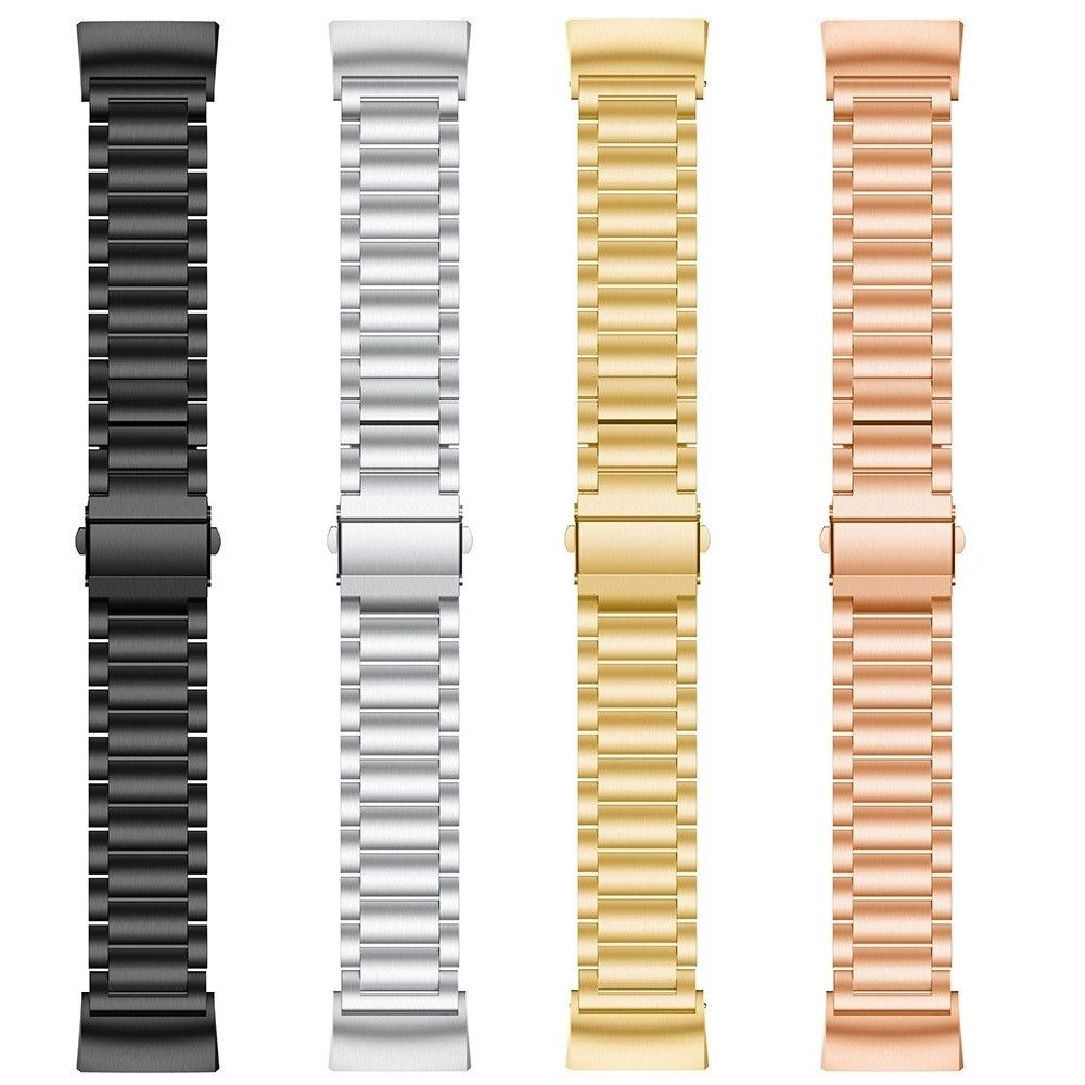 Essidi Stainless Steel Bracelet Strap For Fitbit Charge 3 4 Smart Wristband Loop Replacement For Charge 3 4 Metal Band Strap 5