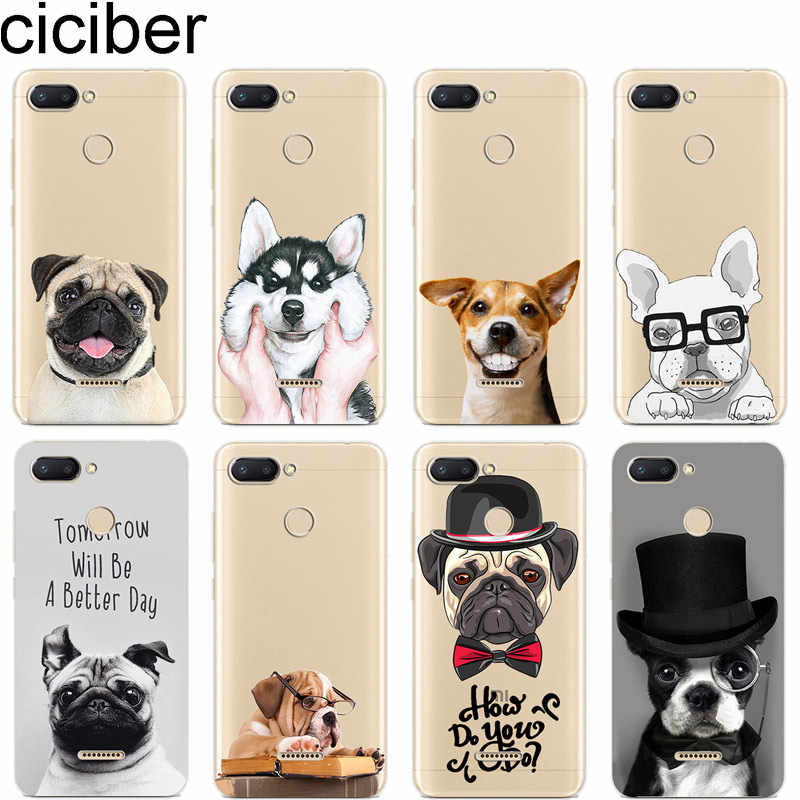 ciciber Phone Case for Xiaomi MIX MAX 3 2 1 S Pro Soft TPU for Xiaomi MI A2 A1 8 9 6 5 X 5C 5S Plus Lite SE Poco F1 Funny Pugs