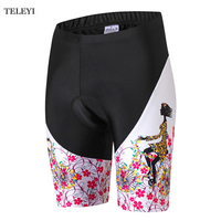 TELEYI Women Ropa Ciclismo Cycling Shorts Breahtable 3D Gel Pad Girls Outdoor Sports Shorts MTB Road Bike Bicycle Shorts XS-4XL