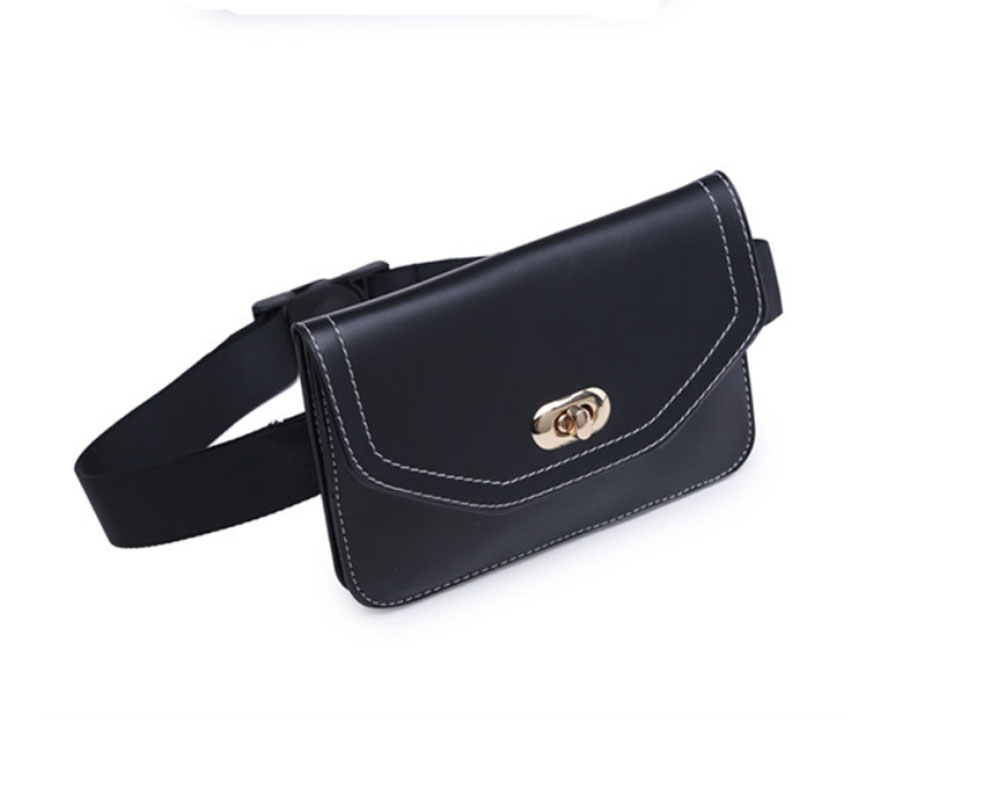 Korea Version Fashion Women Small Waist Bag Fanny Pack  PU Leather Belt Bag Cell Phone Case   Women Crossbody Shoulder Bag