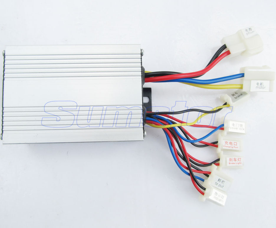 24V 350W brush speed controller with Handle, for motor electric ...
