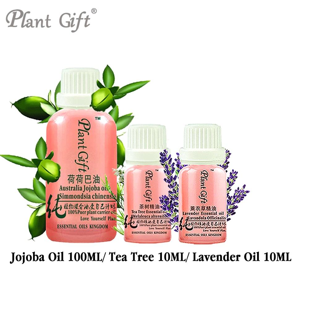 Free Shopping 100% Pure Plant Base  Australian Jojoba / Tea Tree / Lavender Oil Lock Water Moisturizing Unclog Pores Massage Oil