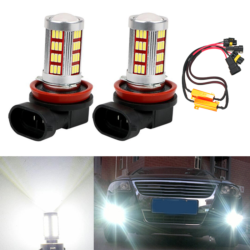2x 9006 HB4 LED Bulbs For Fog Lights No Error For Volkswagen VW Golf 6 MK6 2009-2012 T5 Transporter 2003-2016 Scirocco 08-on