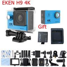 Original Eken Autorizado H9 Real 4 K 25FPS Cámara de Acción A Prueba de agua Cámara de vídeo 2.0 LCD de Alta Velocidad Extreme Sport Cam 12MP 1080 p