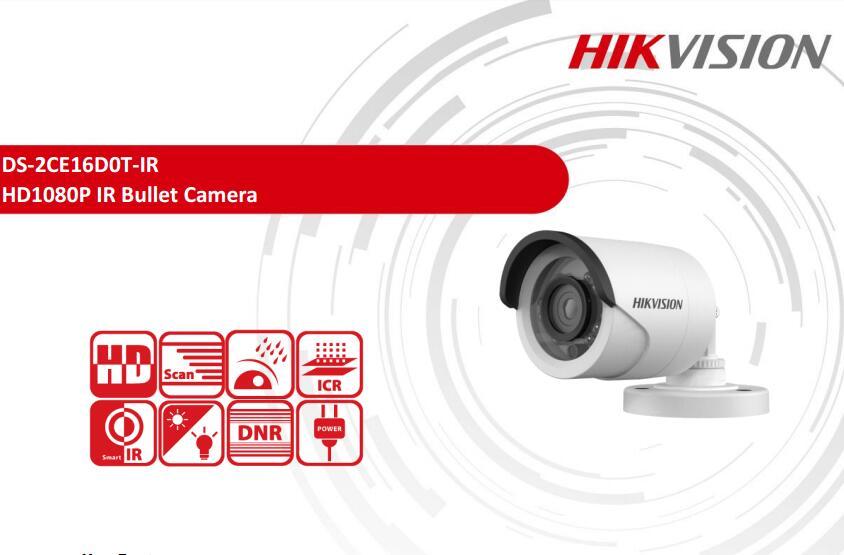 Free Shipping DS-2CE16D0T-IR 2MP FULL HD 720P IR Bullet Camera IP66 Security Waterproof CCTV Camera full hd 1080p bullet outdoor security camera ip 960p 720p 1mp free shipping