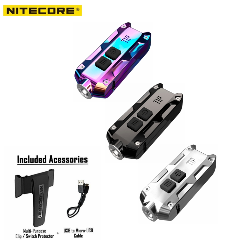 Nitecore TIP SS Stainless Steel Key Light USB Rechargeable 360 lumen LED Waterproof flashlight for Portable outdoor travel